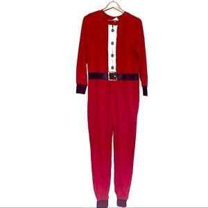 Santa Suit One Piece Zip Up Christmas Pajamas